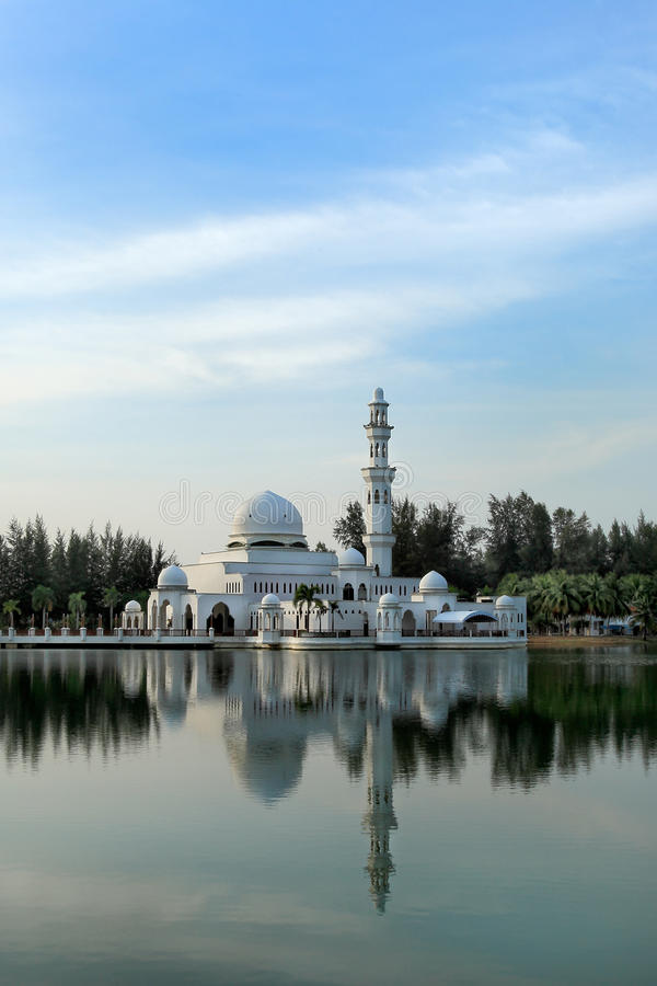 Day view of floating mosque stock photography