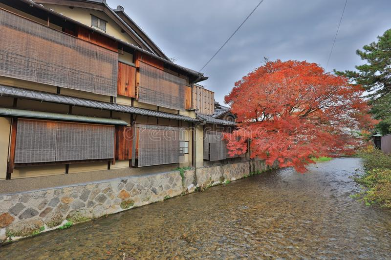 Day view of the Gion district, Kyoto, Japan. Day view of the Gion district at Kyoto, Japan royalty free stock photos