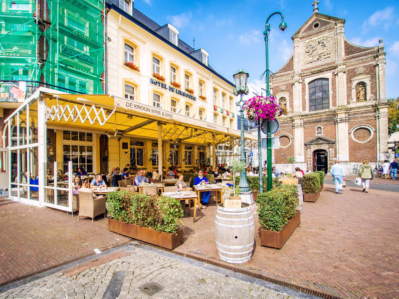 Day view of market square. Sittard. Netherlands royalty free stock photo