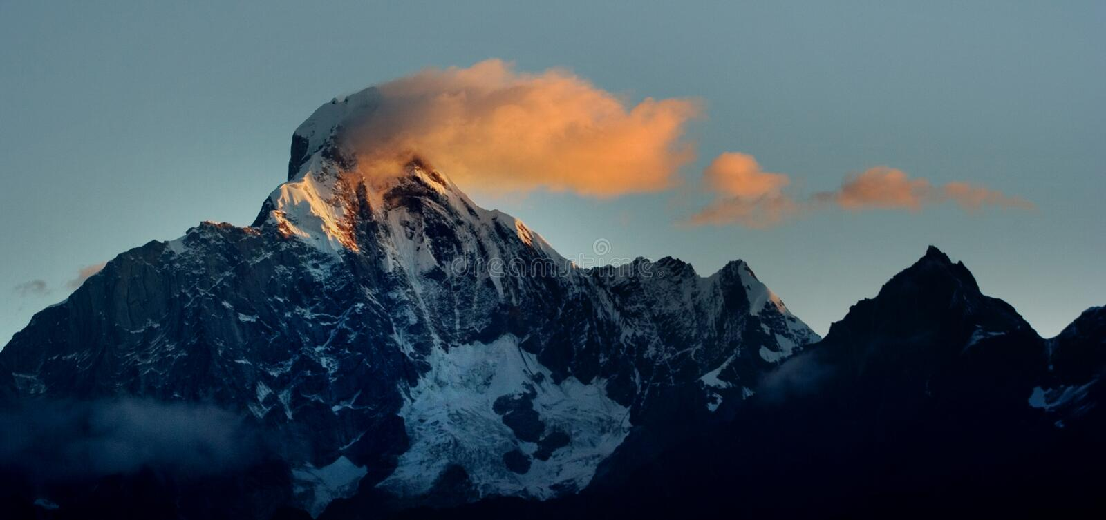 Download Day View Of Siguniang (Four Girls) Mountains Stock Image - Image: 8601391