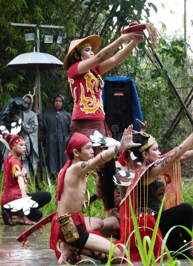 Dayak dance stock photos