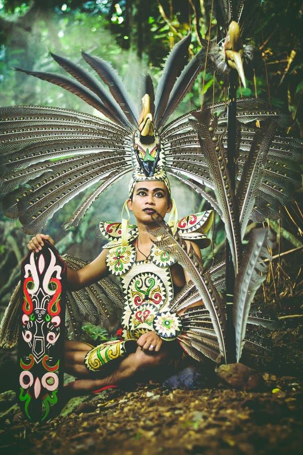 Dayak, de la selva del sur de Borneo fotografía de archivo libre de regalías