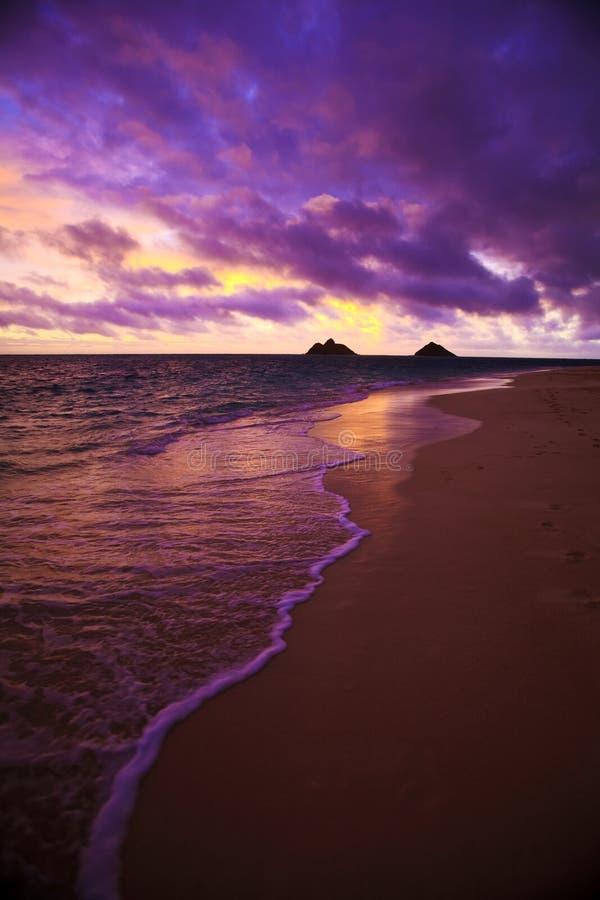 Free Daybreak At Lanikai Beach In Hawaii Stock Photo - 11457410