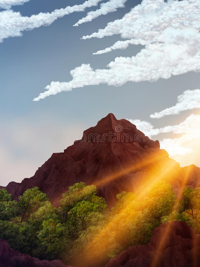 Download Daybreak Digital Painting stock illustration. Image of graphic - 20025187