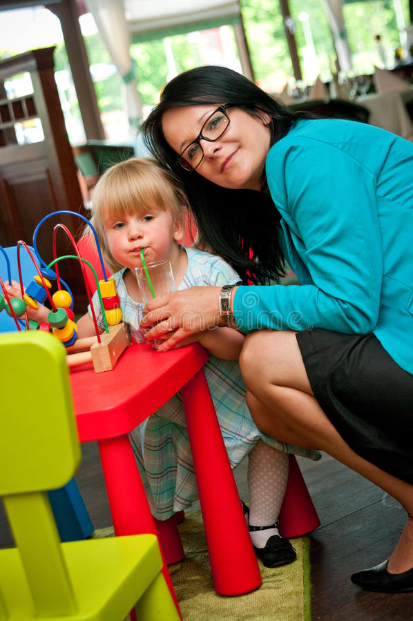 Download Daycare stock image. Image of female, child, thirsty - 25048737