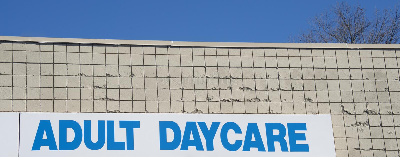 Daycaremitt för vuxna människor arkivbilder