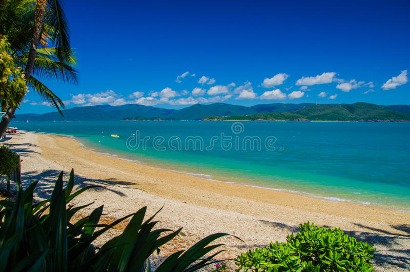 Daydream Island, Whitsunday Islands. The outlook from Daydream Island on a beautiful day stock photography