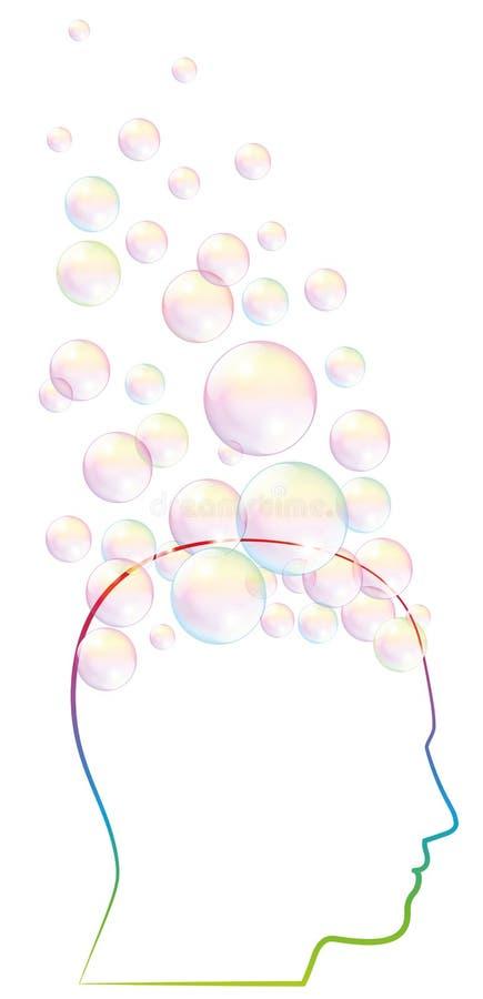 Free Daydreamer Fantasy Mind Brain Bubbles Royalty Free Stock Image - 107703836