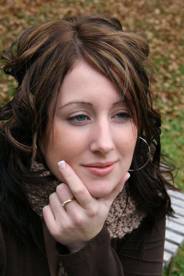 daydreaming женщина стоковая фотография rf