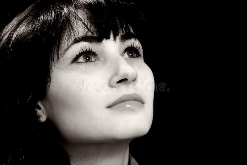 daydreaming женщина стоковые фото