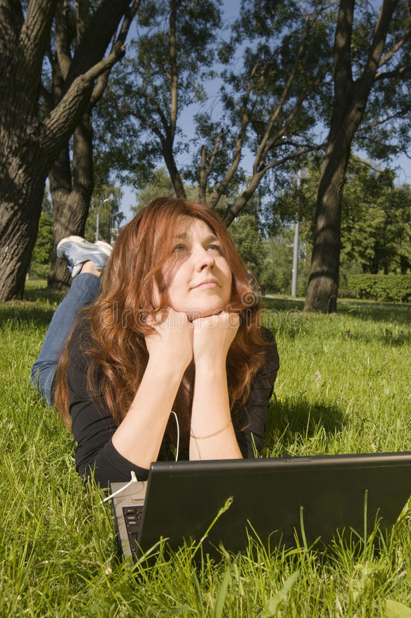 Daydreaming stock image