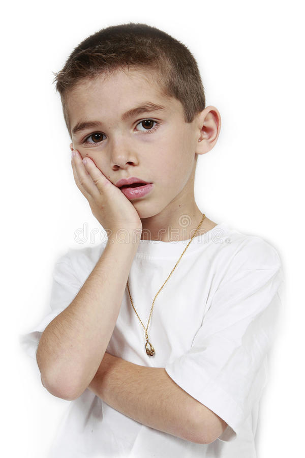 Daydreaming Boy stock image