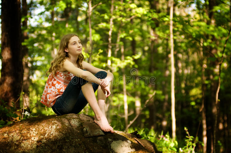 Download Daydreaming girl stock photo. Image of dreaming, park - 25123258