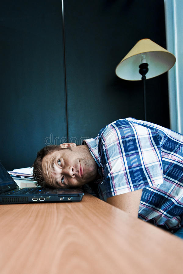 Download Daydreaming in office stock photo. Image of laptop, stressed - 15669926