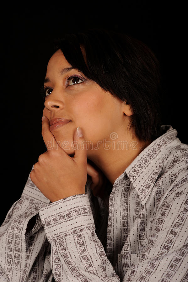 Daydreaming Woman royalty free stock images