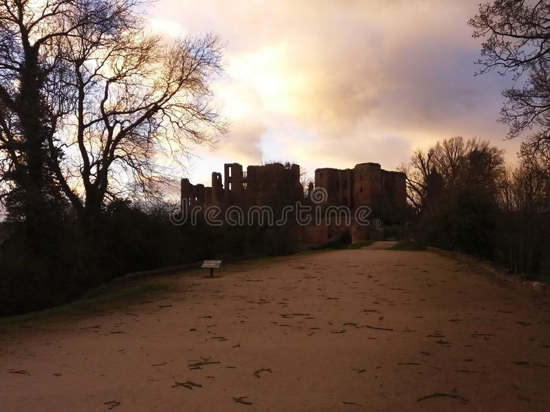 Dayfall del castillo fotografía de archivo