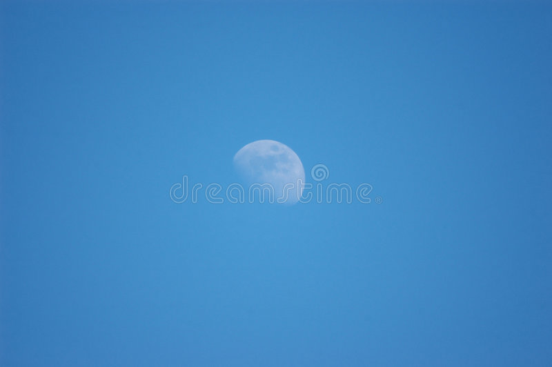 Download Daylight Moon stock image. Image of daylight, waning, clear - 2335749