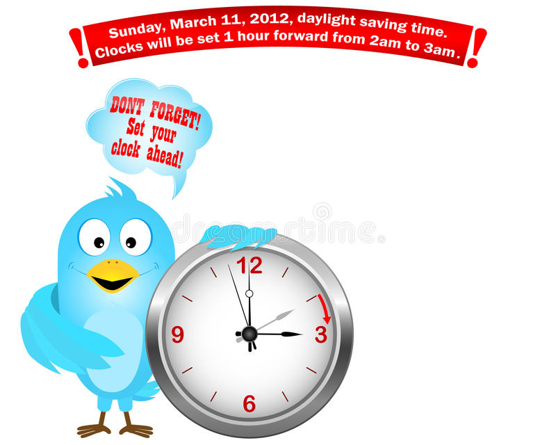 Download Daylight Saving Time Begins. Blue Bird. Stock Photos - Image: 23567863