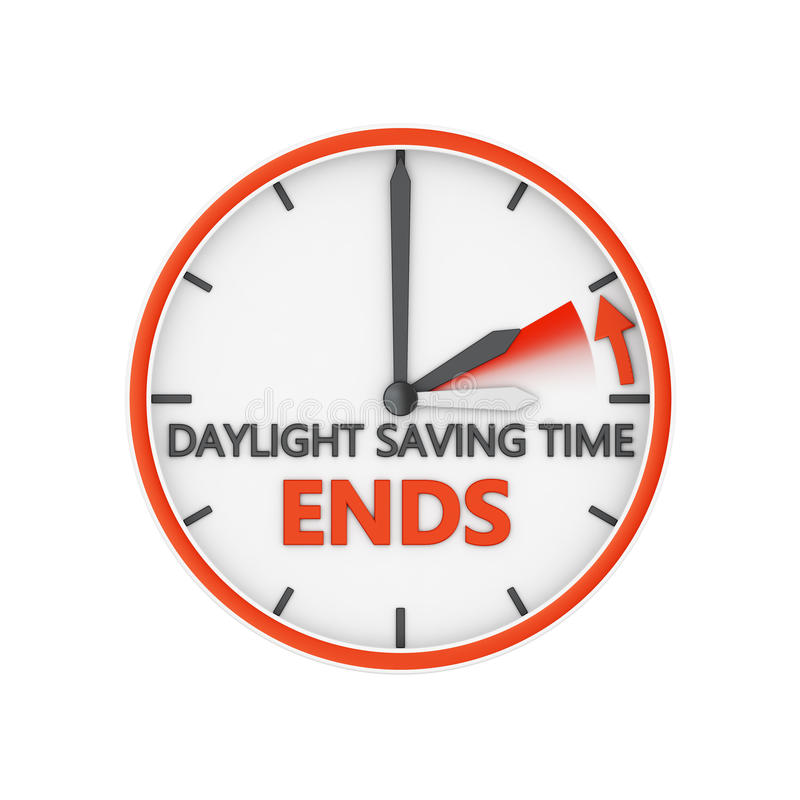 Daylight saving time royalty free illustration