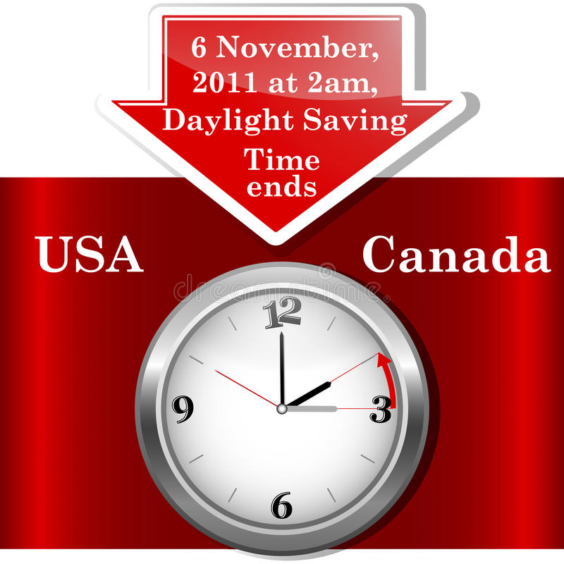 Download Daylight saving time ends. stock vector. Image of icon - 20570474