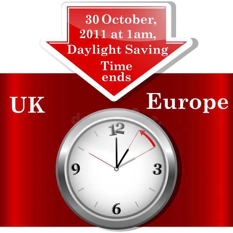 Download Daylight saving time ends. stock vector. Illustration of europe - 20736545