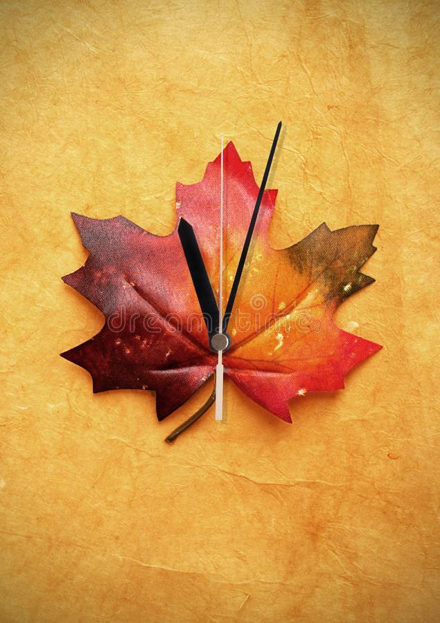 Daylight savings autumn time clock royalty free stock photo