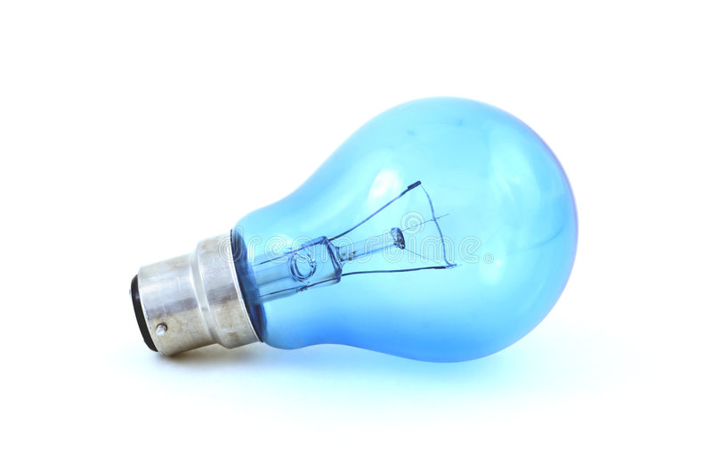 Daylight simulation bulb, isolated on white royalty free stock photos