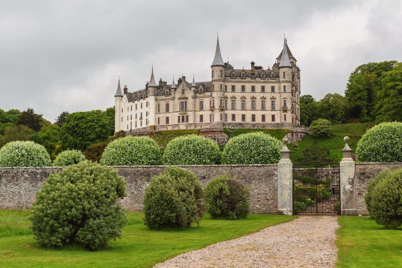 Daylight view of Dunrobin Castle, Scottish. Highlands royalty free stock photo