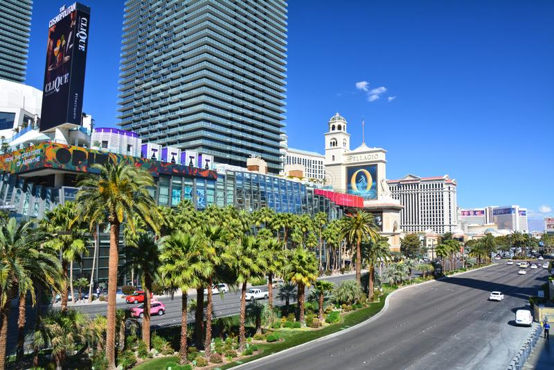 Daylight view on Las Vegas Boulevard - The Strip royalty free stock photo