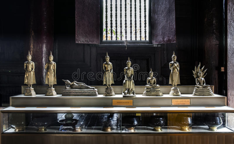 7 days Buddha image. Buddha spent 7 days following his enlightenment thinking of the suffering of all living creatures. This 8 Buddhas represent the 7 days of stock photography
