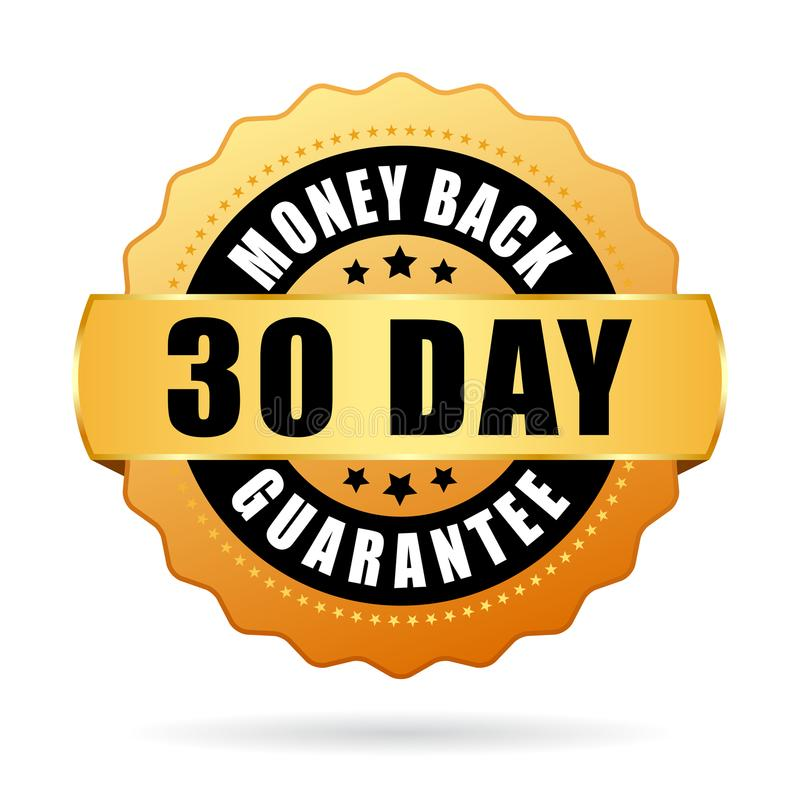 30 days money back guarantee icon royalty free illustration