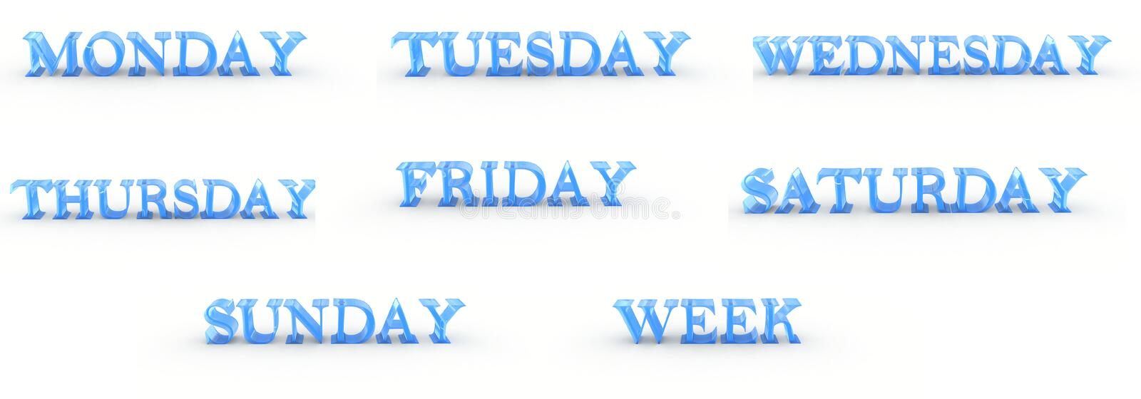 Download Days Of The Week Royalty Free Stock Image - Image: 8898636
