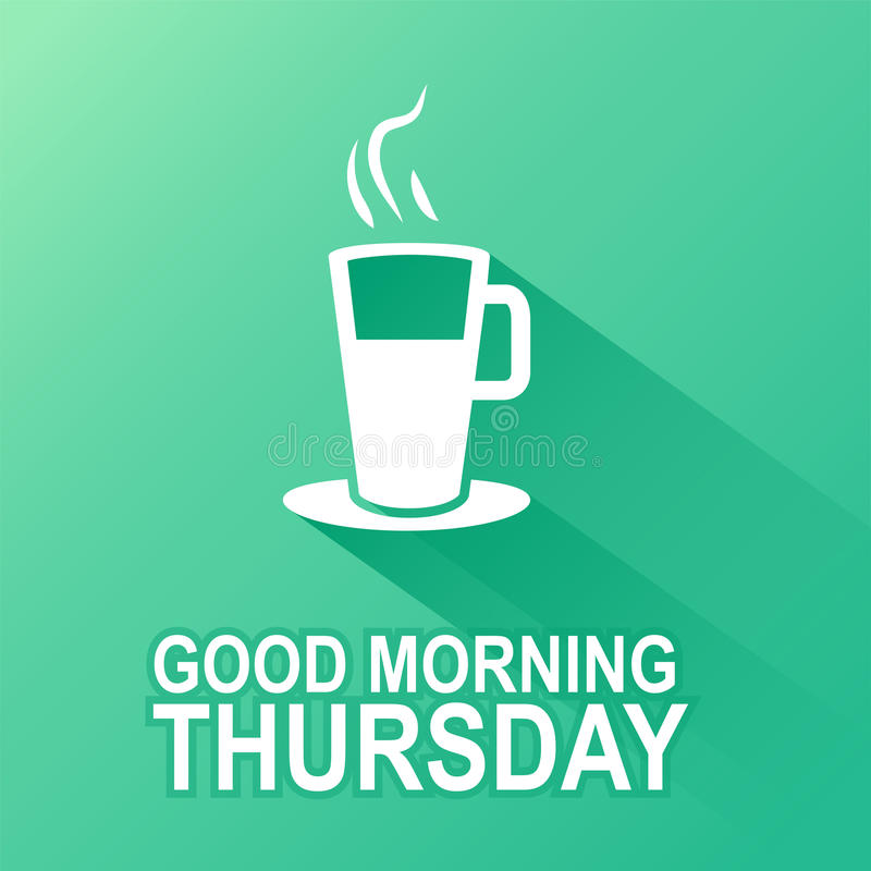 Days of the Week. Thursday stock illustration