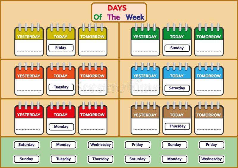 Days Preschool Week Stock Illustrations – 39 Days Preschool Week Stock  Illustrations, Vectors & Clipart - Dreamstime