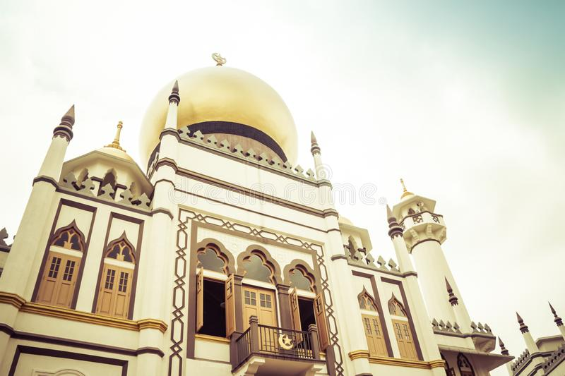 Sultan Mosque, Singapore. Daytime image of the Sultan Mosque in Singapore in the Little Arabia district royalty free stock photo
