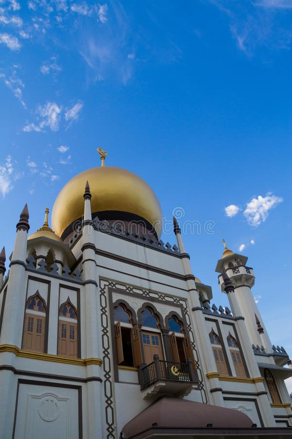 Sultan Mosque, Singapore. Daytime image of the Sultan Mosque in Singapore in the Little Arabia district stock photography