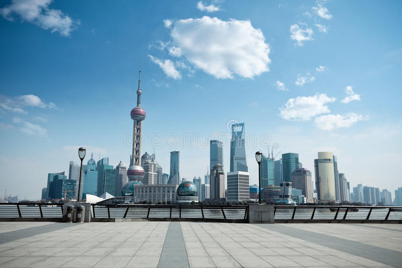 Download Daytime scene of shanghai stock image. Image of blue - 24222739