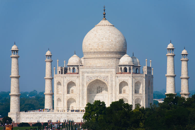Download Daytime Taj Mahal At Distance Stock Photo - Image: 14783420