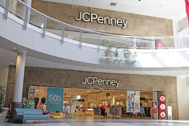 Dayton - Circa April 2018: JC Penney Retail Mall Location. JCP is an Apparel and Home Furnishing Retailer II. JC Penney Retail Mall Location. JCP is an Apparel stock images