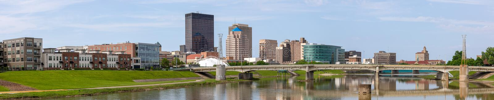 Dayton CityScape. Dayton, City in the state of Ohio, United States of American, as seen from Deeds Point Metropark stock photos