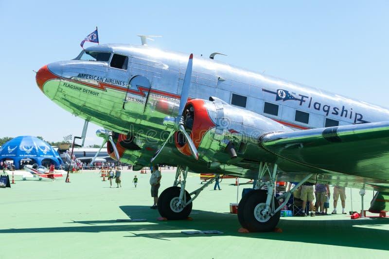 Vectren Dayton Air Show. Dayton, Ohio, USA - June 19, 2016 The Vectren Dayton Air Show, Performers and static displays royalty free stock images