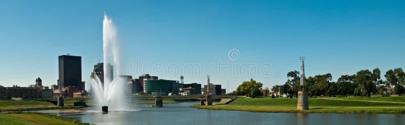 Dayton Riverscape Pano royalty-vrije stock foto