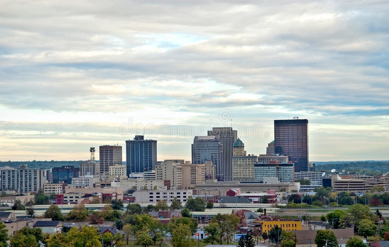 Dayton Skyline HDR Close royalty free stock images