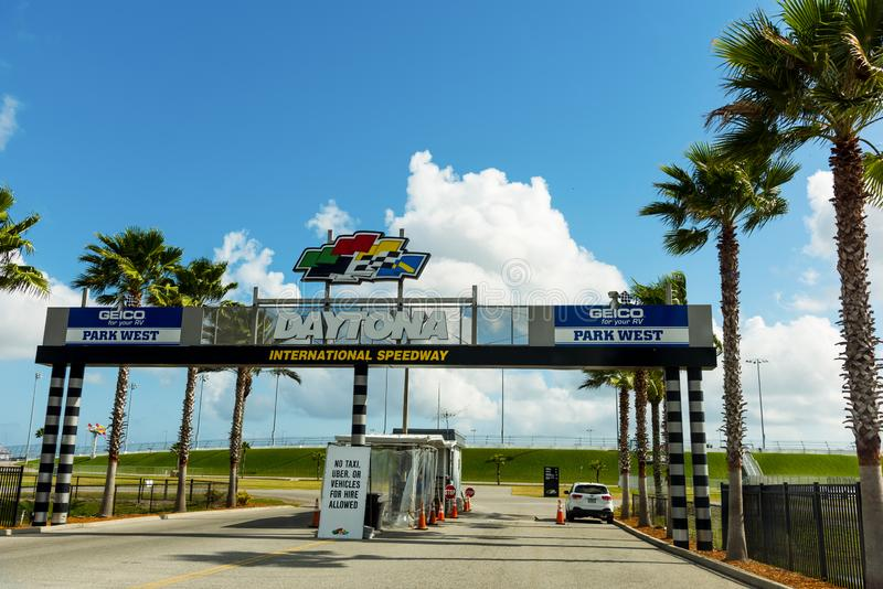 Daytona国际赛车场公园西大门 免版税图库摄影