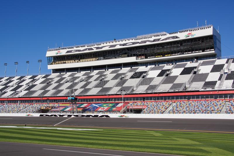 Daytona国际赛车场正面看台 免版税库存图片