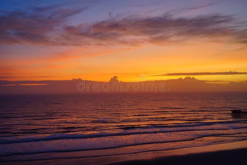 Daytona海滩太阳上升 库存照片
