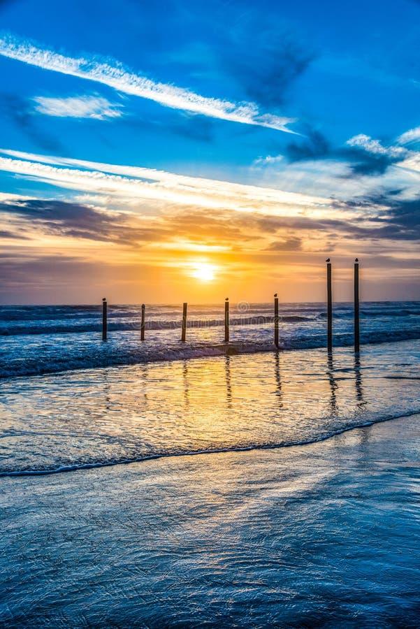 Daytona海滩,佛罗里达,日出的美国 免版税库存图片