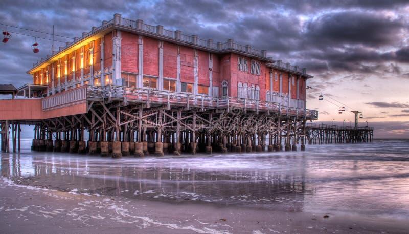 Daytona海滩木板走道 免版税库存照片