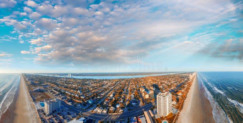 Daytona海滩空中全景,佛罗里达 库存图片