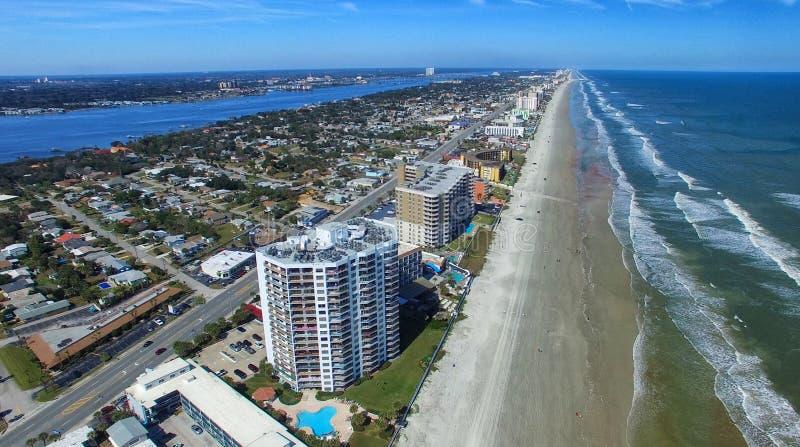 Daytona海滩鸟瞰图,佛罗里达 免版税图库摄影